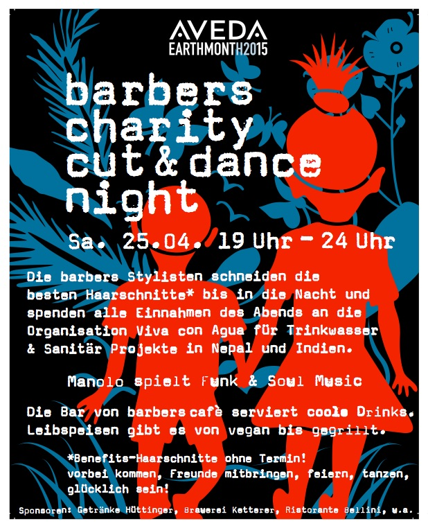 charity cut & dance night: Sa. 25.04.2015 19 bis 24 Uhr