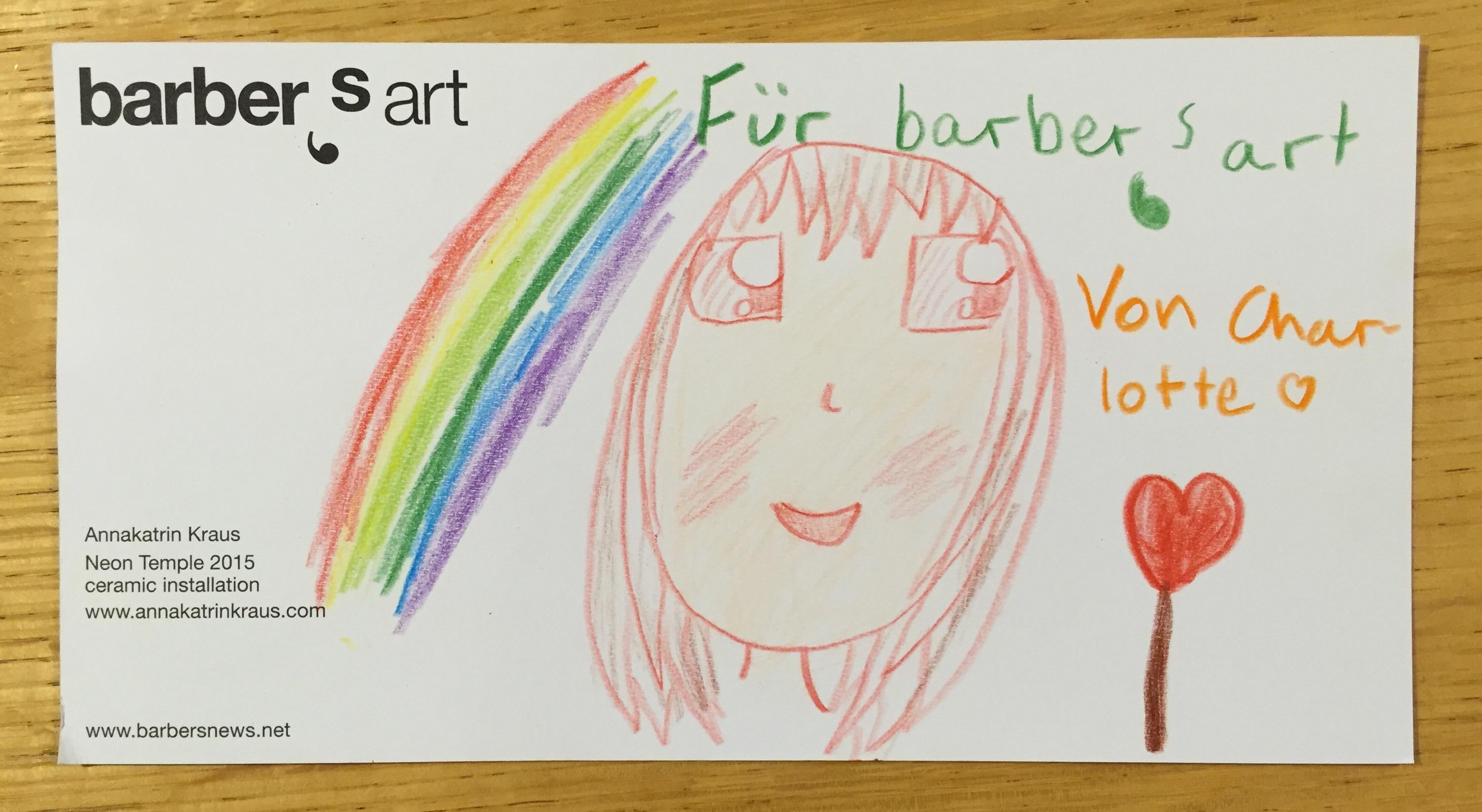 Kids@barbers: Kunstkarte wird Kunstkarte…